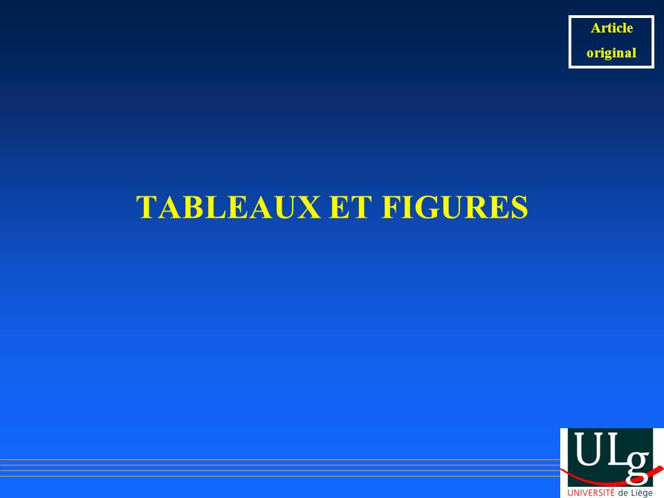 Article original TABLEAUX ET FIGURES