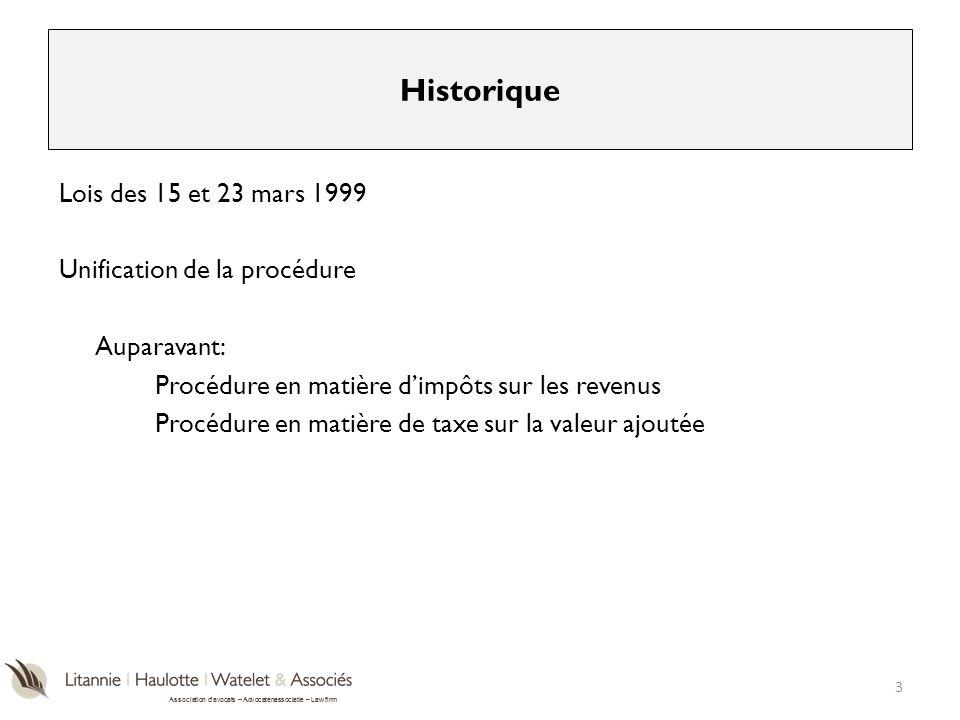 Historique Lois des 15 et 23 mars 1999 Unification de la procédure