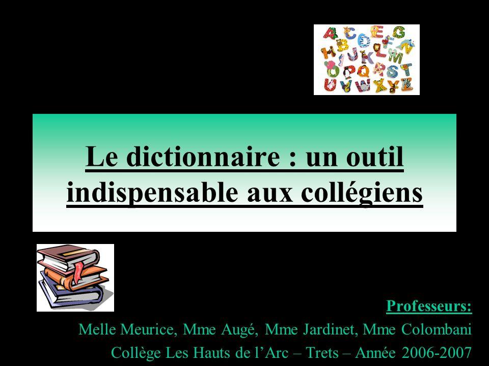 Le dictionnaire : un outil indispensable aux collégiens