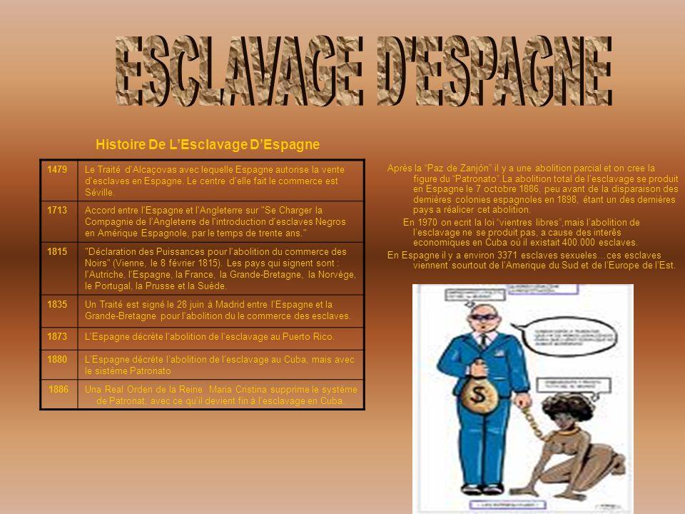 ESCLAVAGE D ESPAGNE Histoire De L'Esclavage D'Espagne 1479