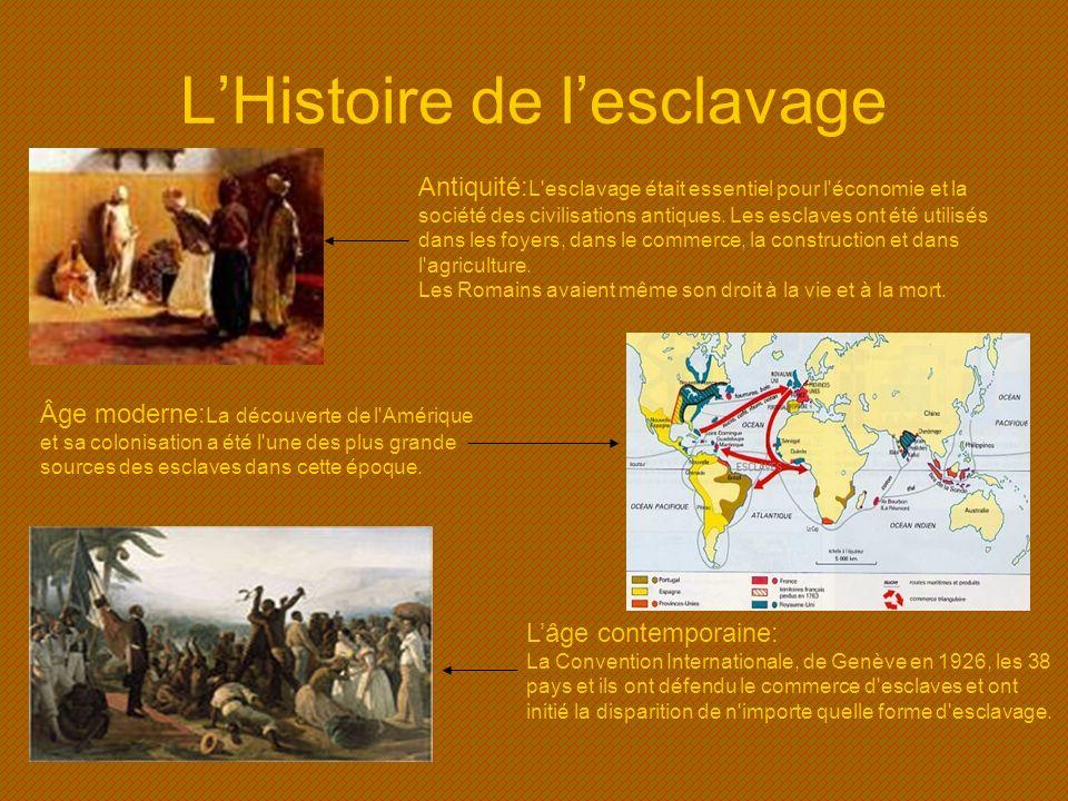 L'Histoire de l'esclavage