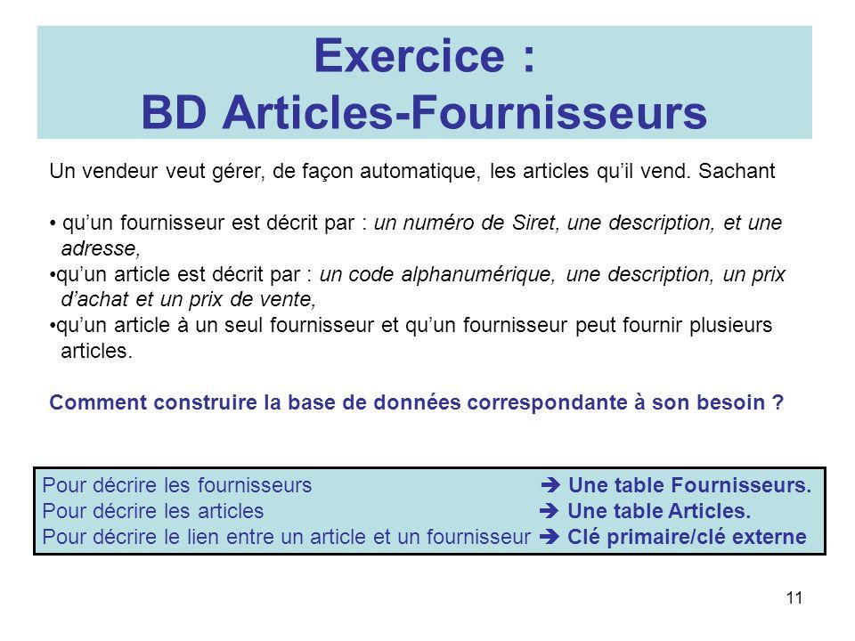 BD Articles-Fournisseurs