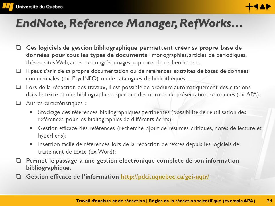 EndNote, Reference Manager, RefWorks…
