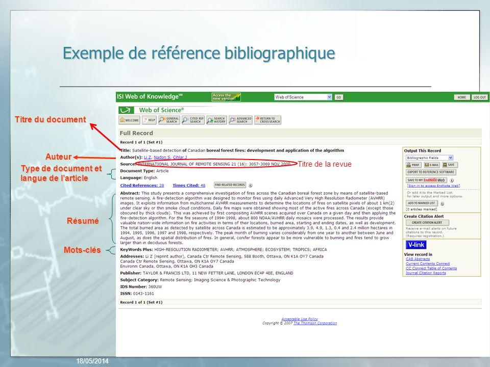 Exemple de référence bibliographique