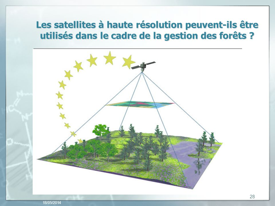 Les satellites à haute résolution peuvent-ils être utilisés dans le cadre de la gestion des forêts