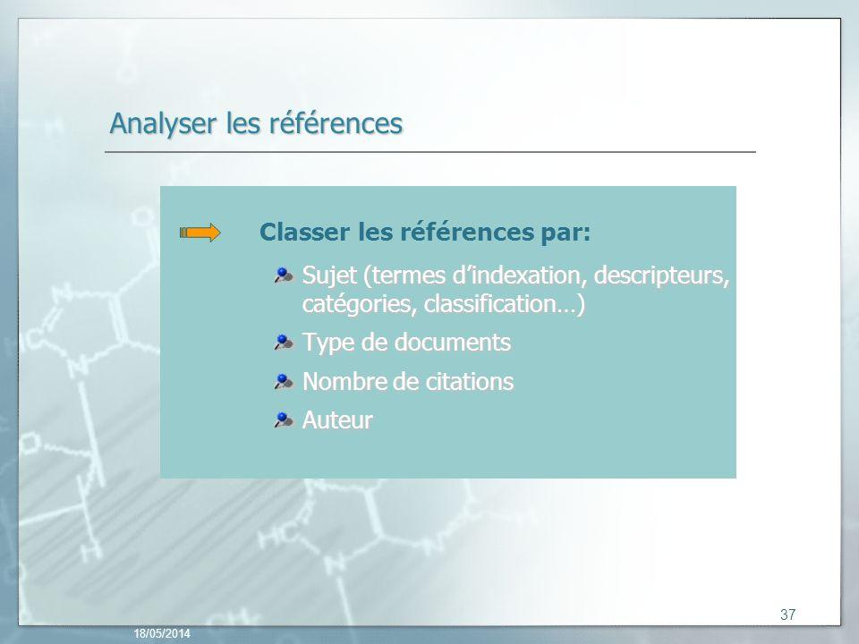 Analyser les références
