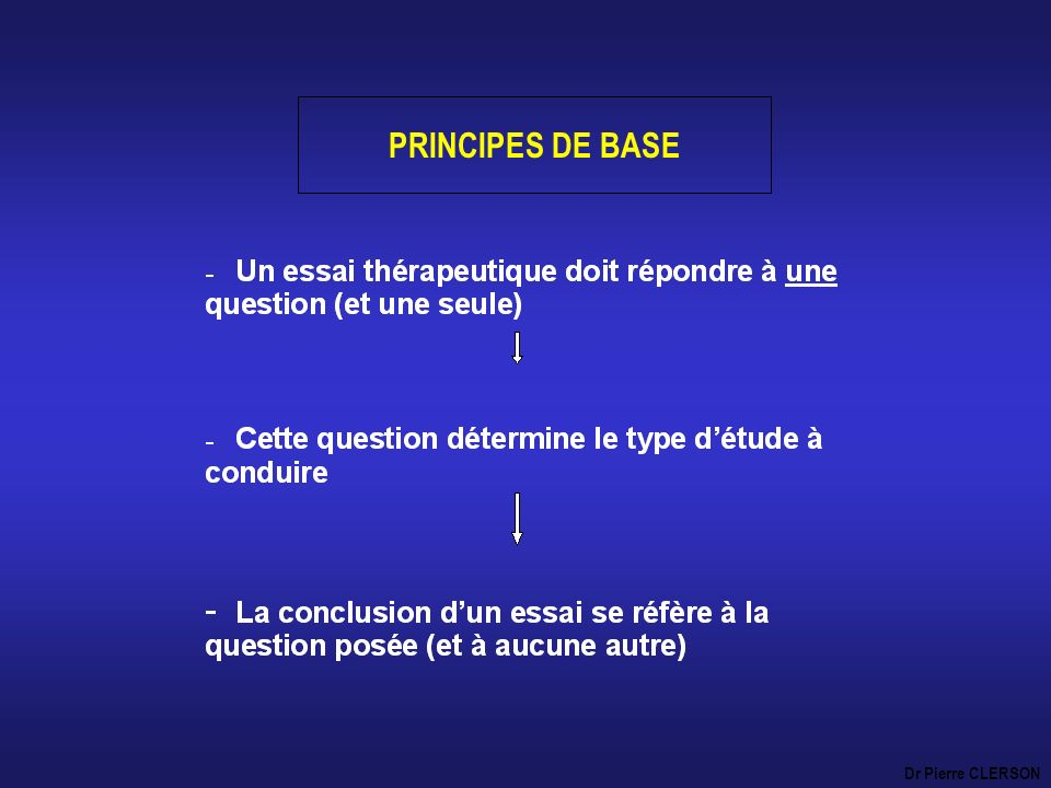 PRINCIPES DE BASE Dr Pierre CLERSON