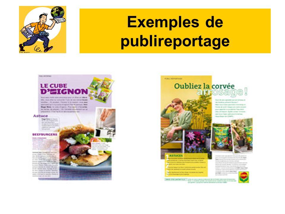 Exemples de publireportage