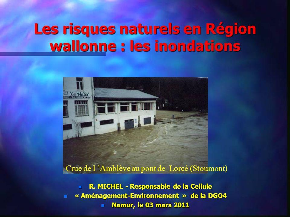 Les risques naturels en Région wallonne : les inondations