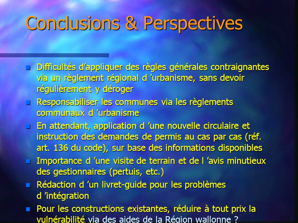 Conclusions & Perspectives