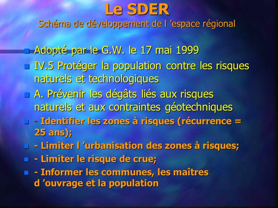Le SDER Schéma de développement de l 'espace régional