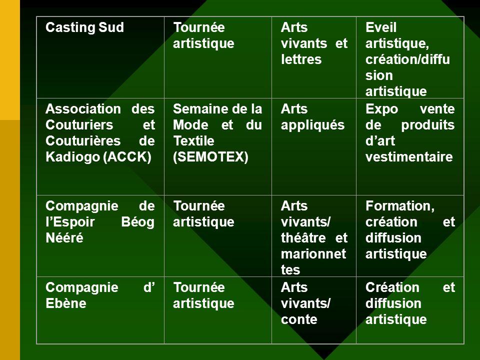 Casting Sud Tournée artistique. Arts vivants et lettres. Eveil artistique, création/diffusion artistique.