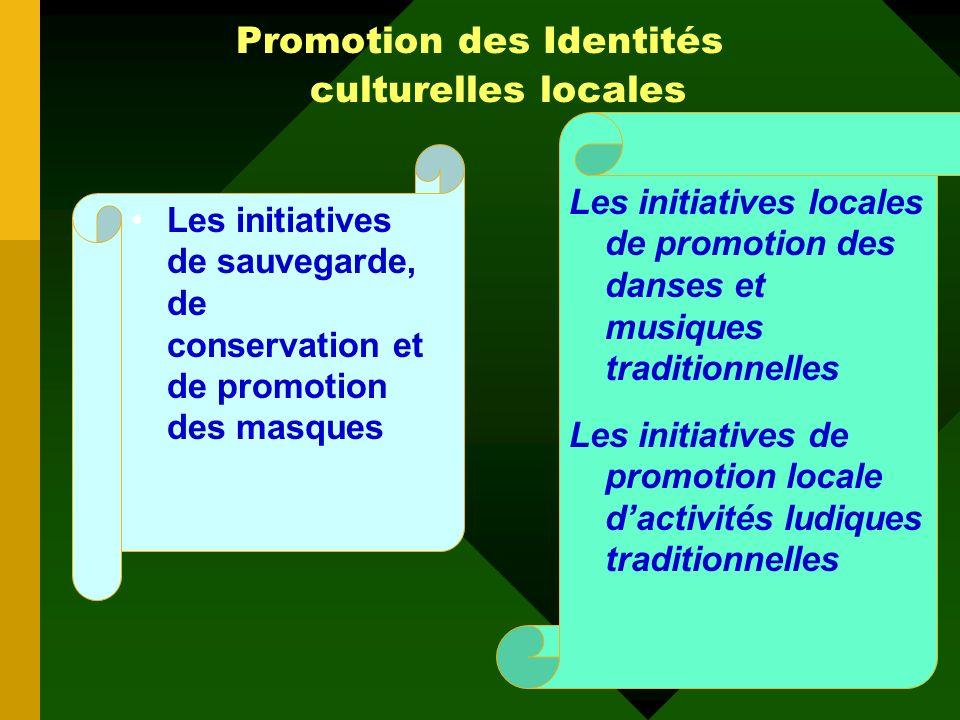 Promotion des Identités culturelles locales