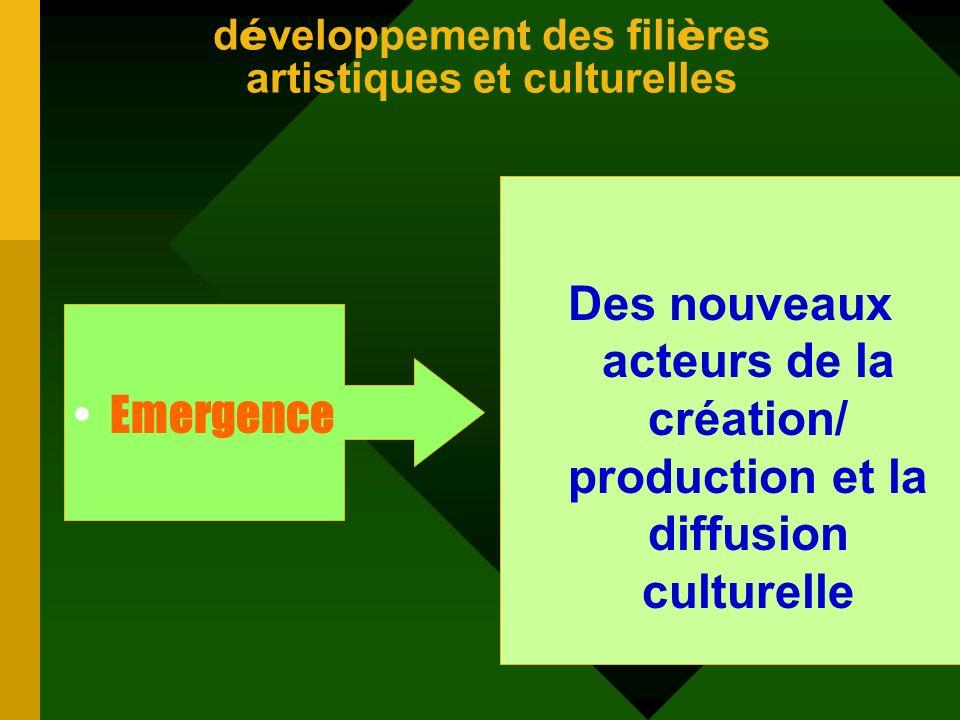 développement des filières artistiques et culturelles