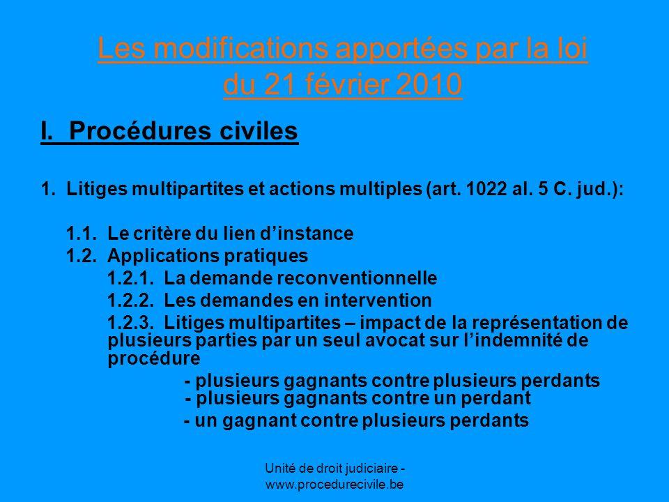 Les modifications apportées par la loi du 21 février 2010