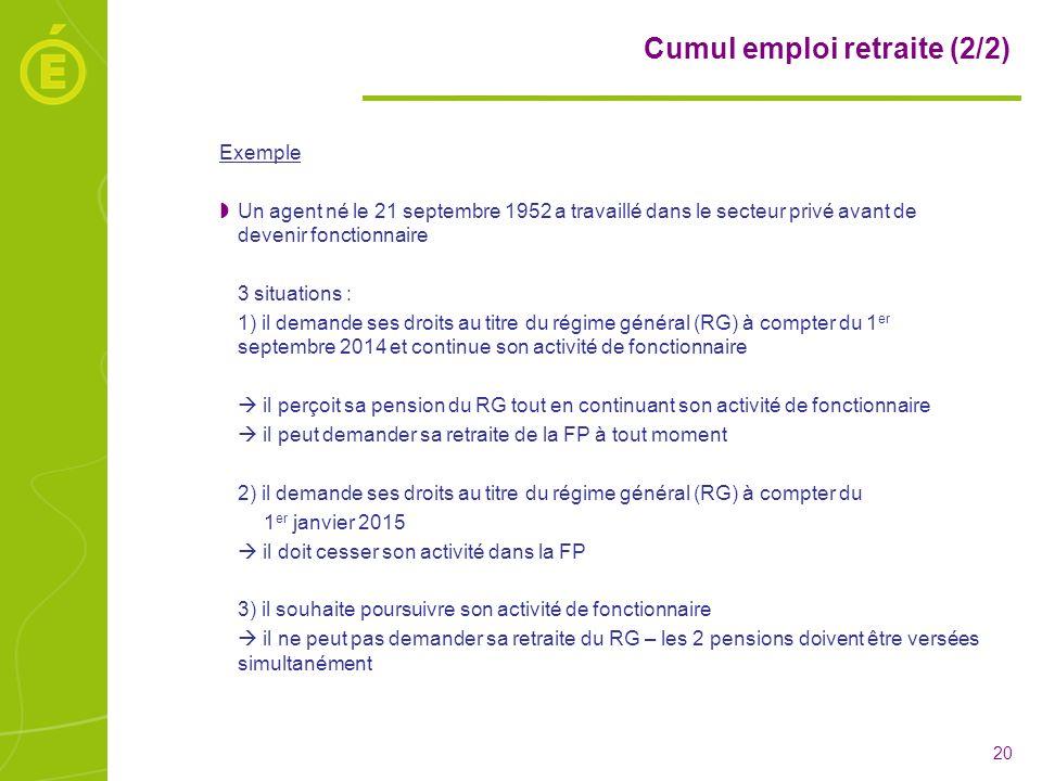 Cumul emploi retraite (2/2)