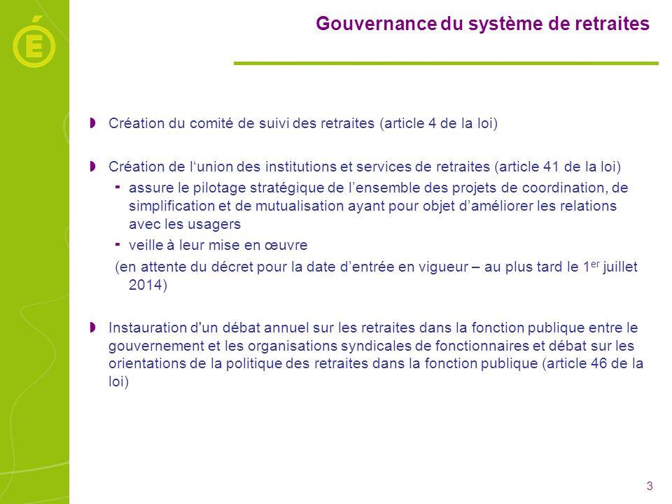 Gouvernance du système de retraites