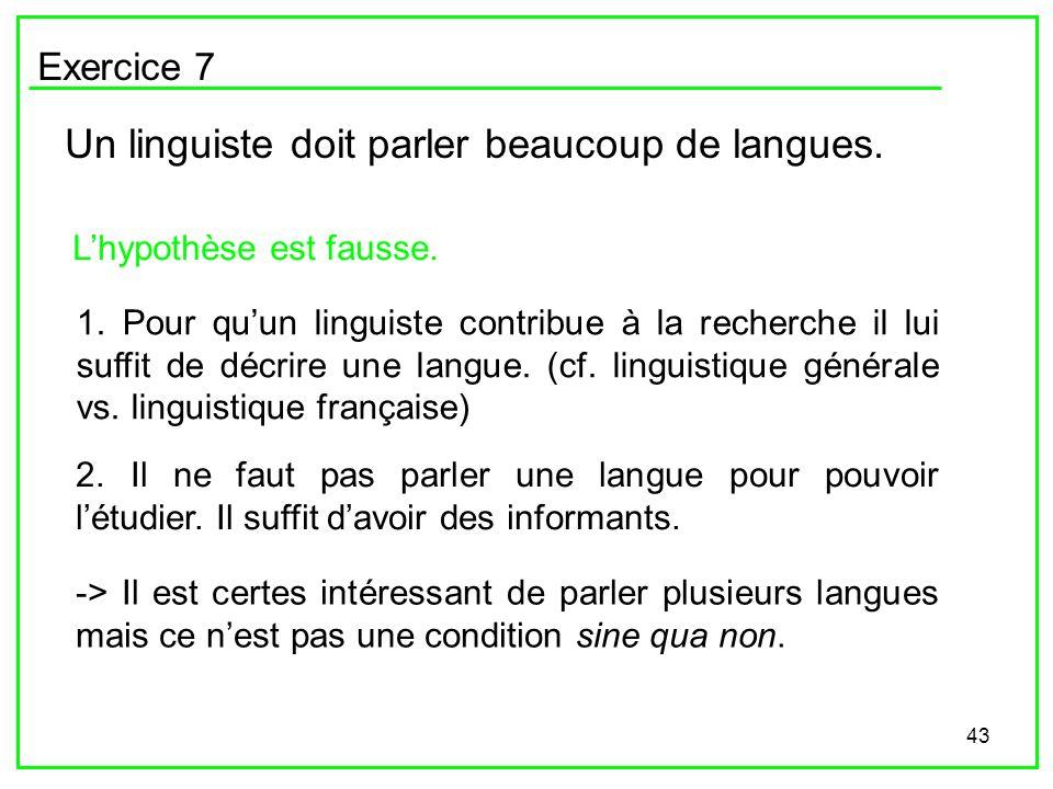 Un linguiste doit parler beaucoup de langues.