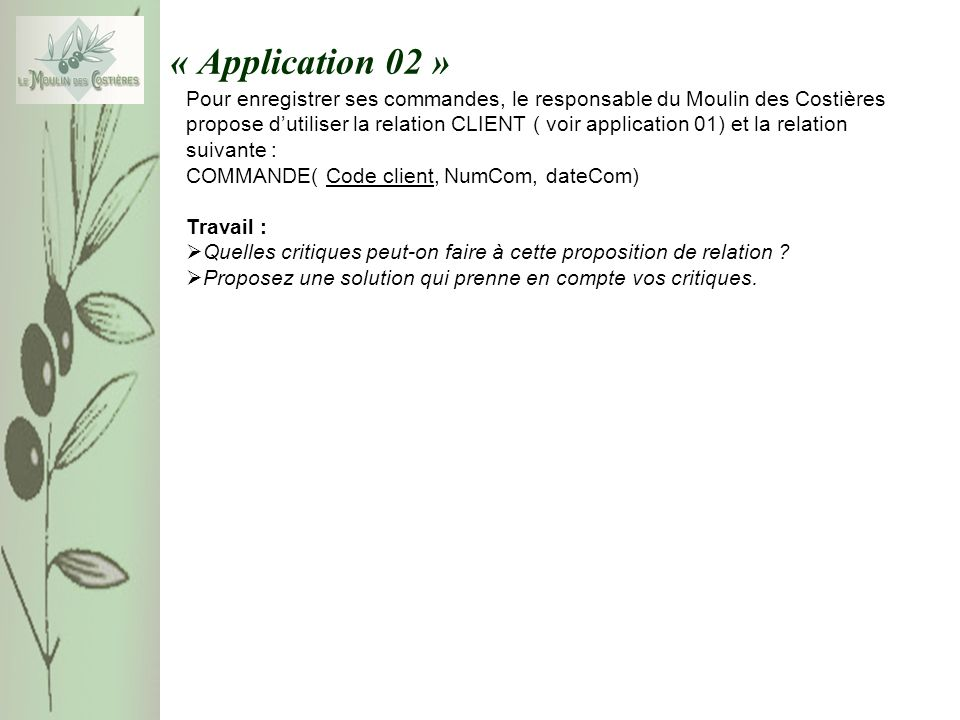 « Application 02 »
