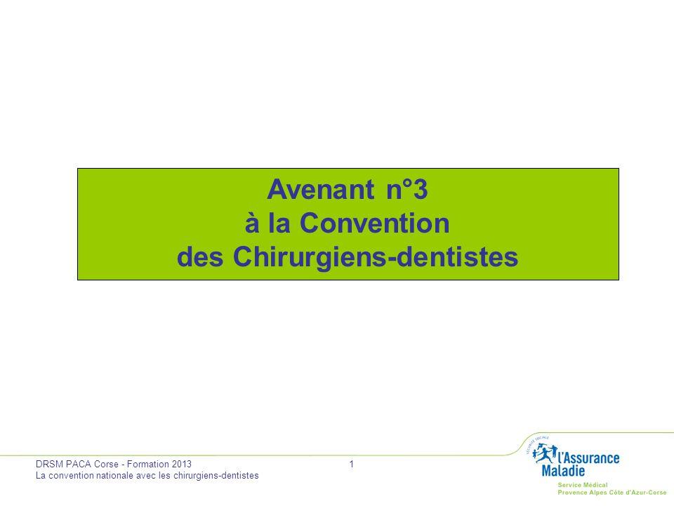 Avenant n°3 à la Convention des Chirurgiens-dentistes