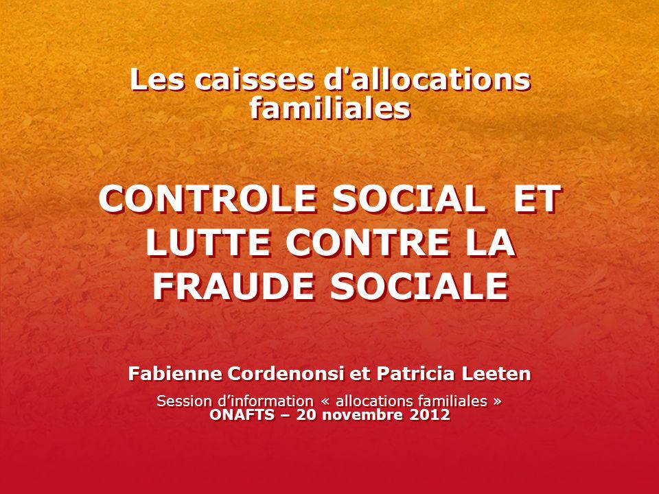 CONTROLE SOCIAL ET LUTTE CONTRE LA FRAUDE SOCIALE