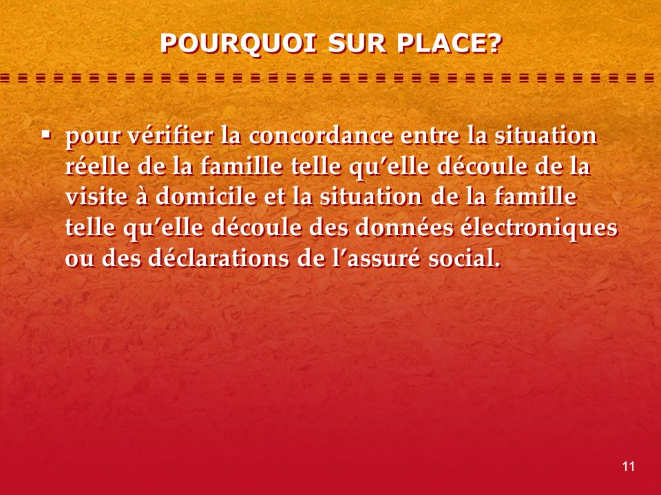 POURQUOI SUR PLACE