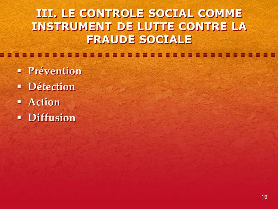 III. LE CONTROLE SOCIAL COMME INSTRUMENT DE LUTTE CONTRE LA FRAUDE SOCIALE