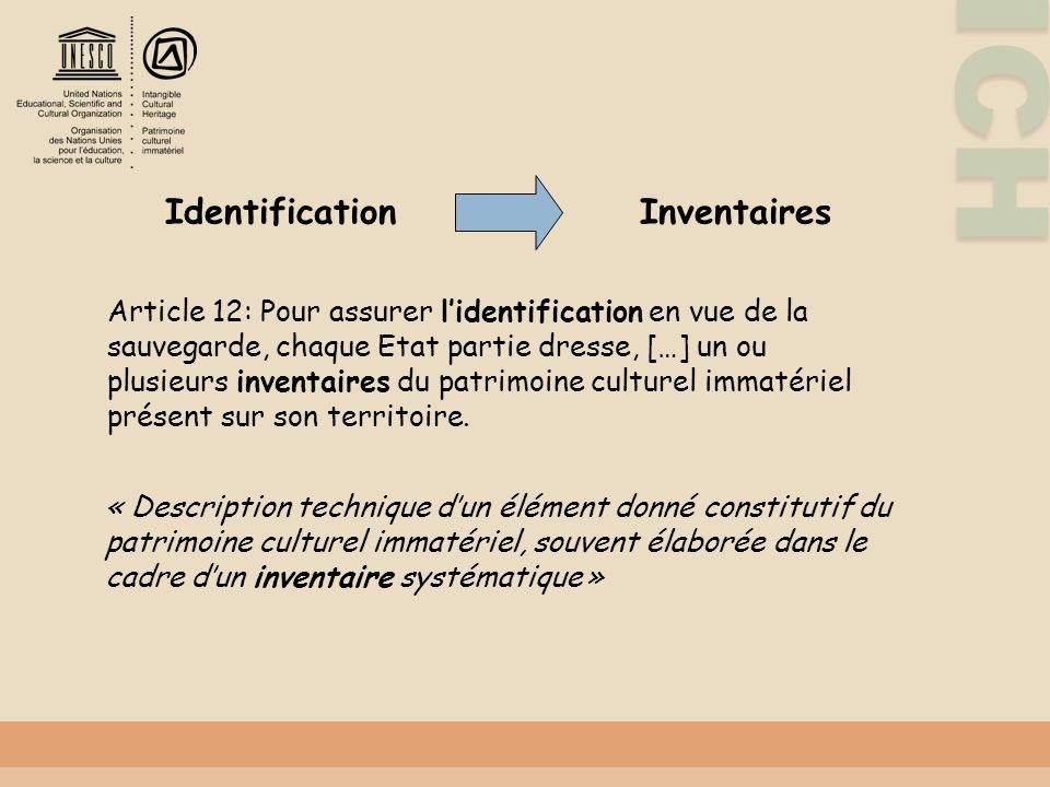 Identification Inventaires