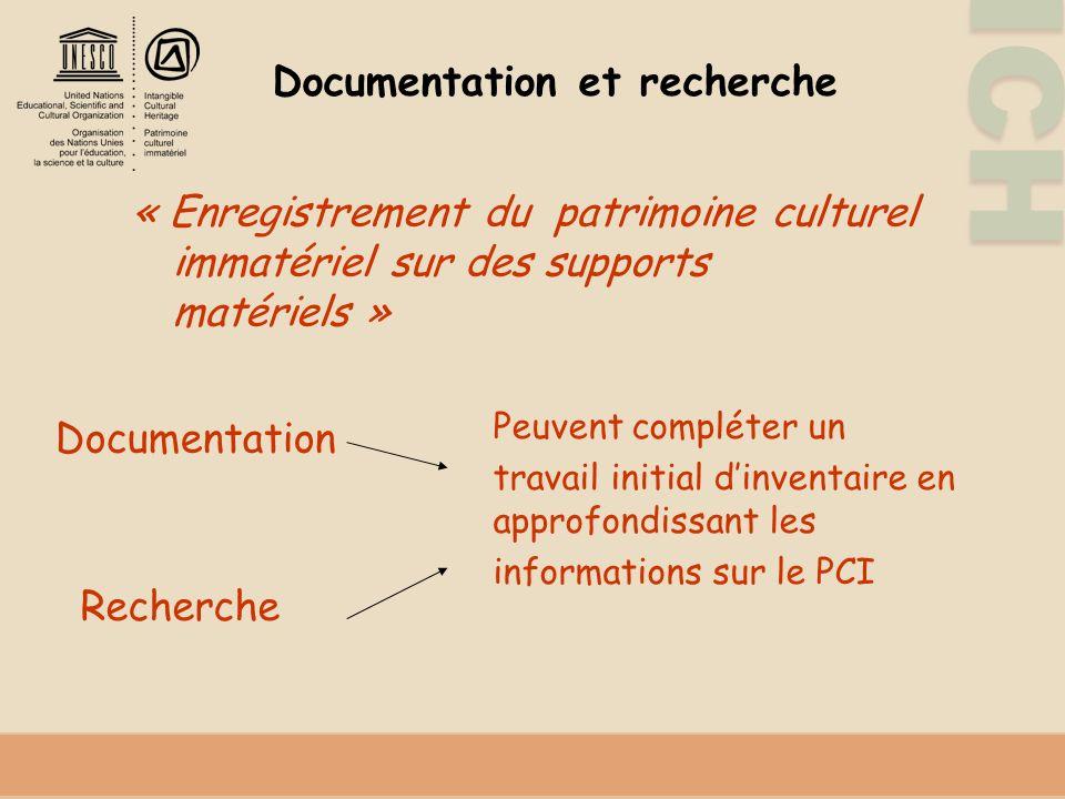 Documentation et recherche