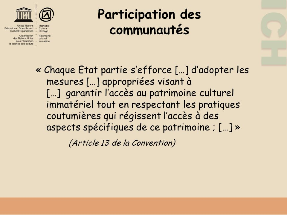 Participation des communautés