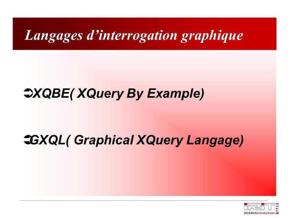 Langages d'interrogation graphique