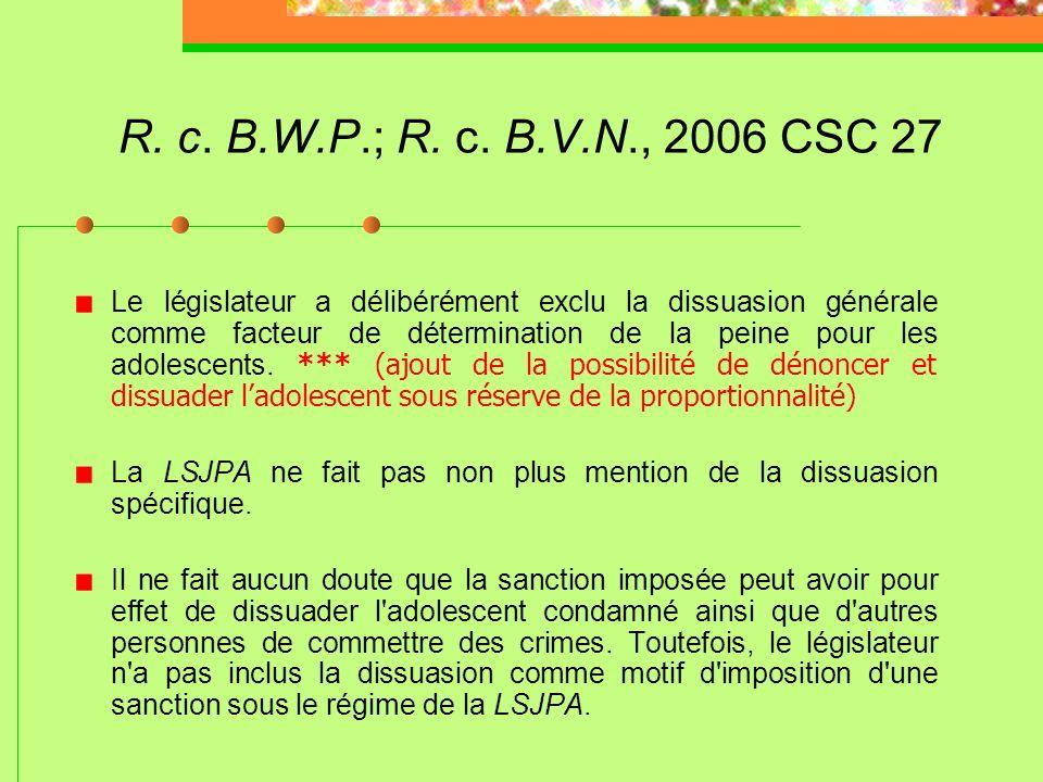 R. c. B.W.P.; R. c. B.V.N., 2006 CSC 27