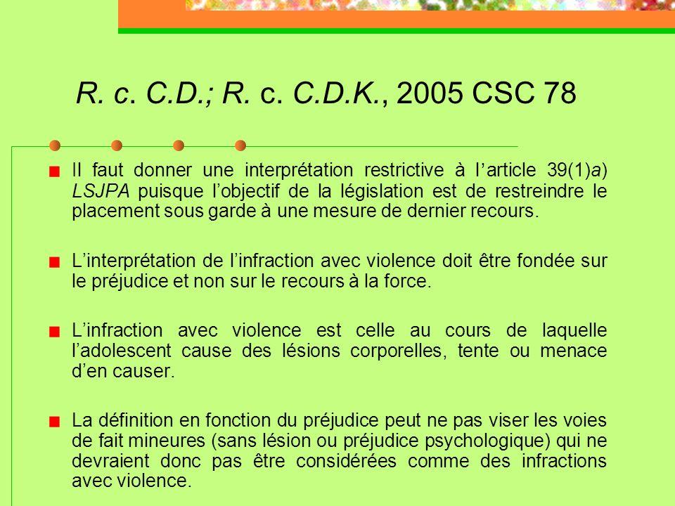 R. c. C.D.; R. c. C.D.K., 2005 CSC 78