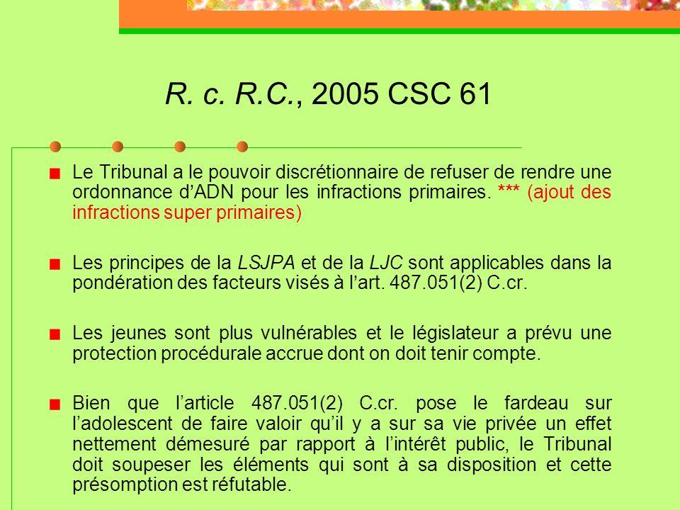 R. c. R.C., 2005 CSC 61