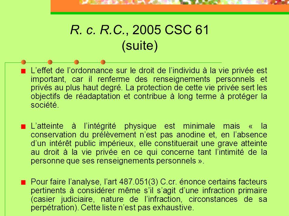 R. c. R.C., 2005 CSC 61 (suite)