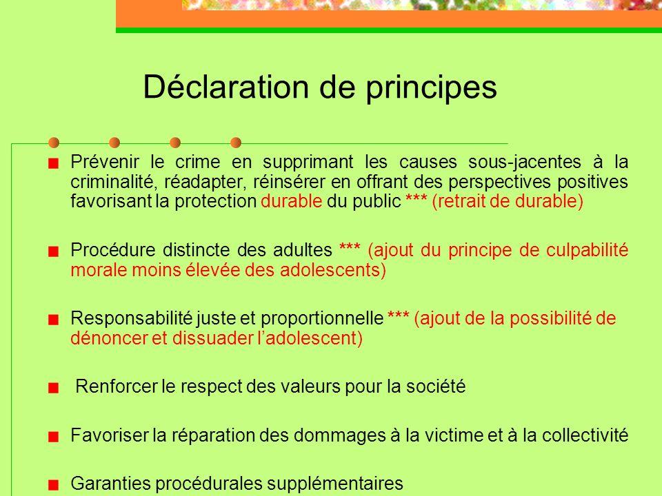 Déclaration de principes