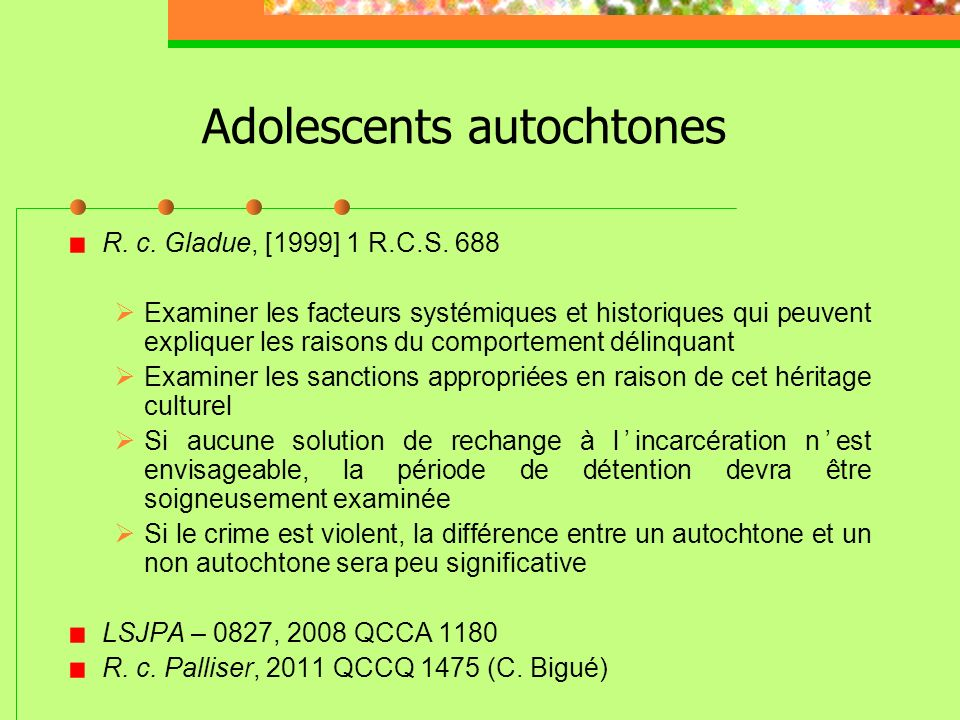 Adolescents autochtones