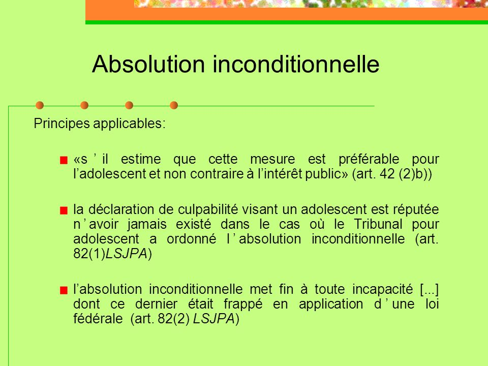 Absolution inconditionnelle