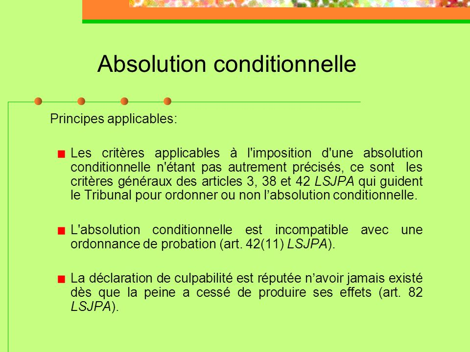 Absolution conditionnelle