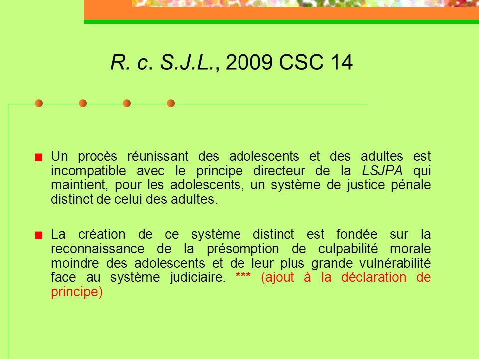 R. c. S.J.L., 2009 CSC 14