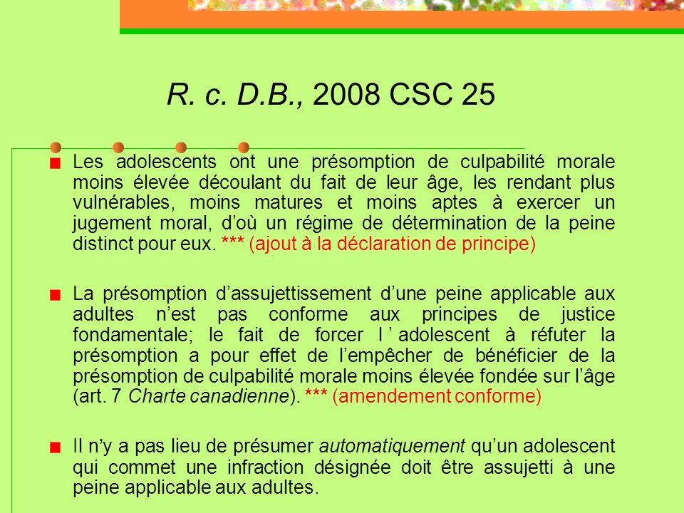 R. c. D.B., 2008 CSC 25