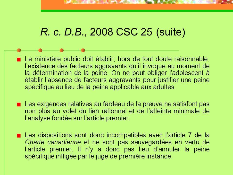 R. c. D.B., 2008 CSC 25 (suite)