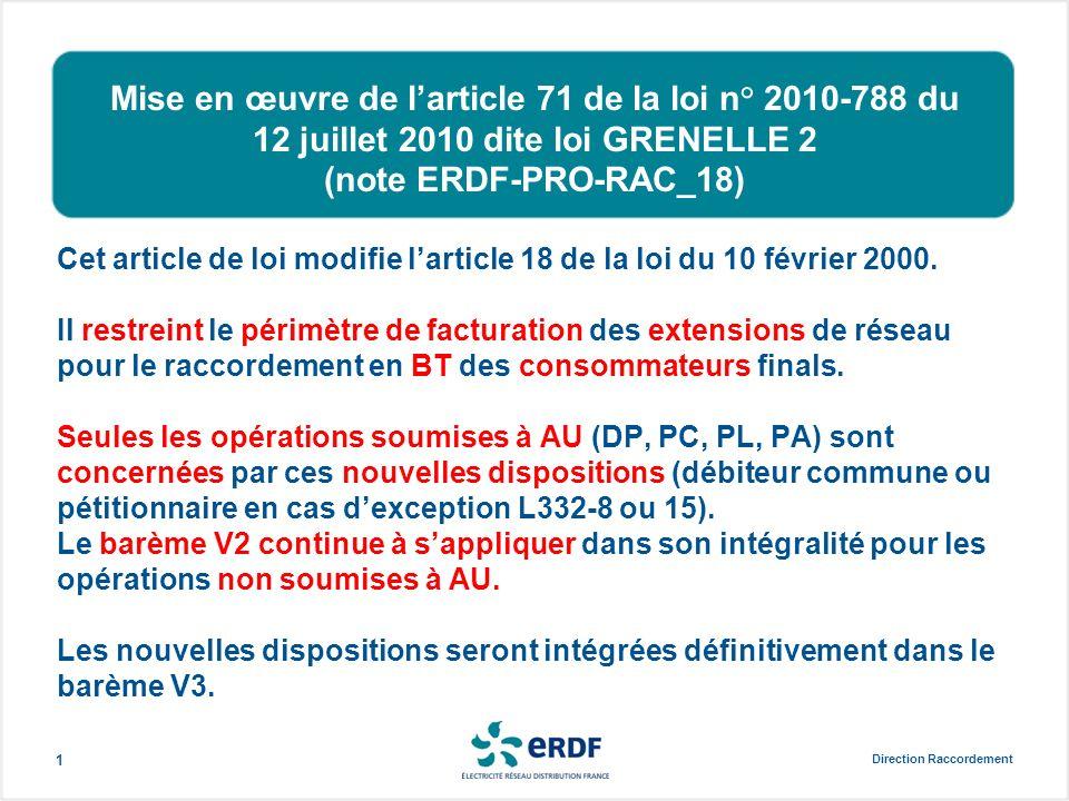 Mise en œuvre de l'article 71 de la loi n° 2010-788 du 12 juillet 2010 dite loi GRENELLE 2 (note ERDF-PRO-RAC_18)