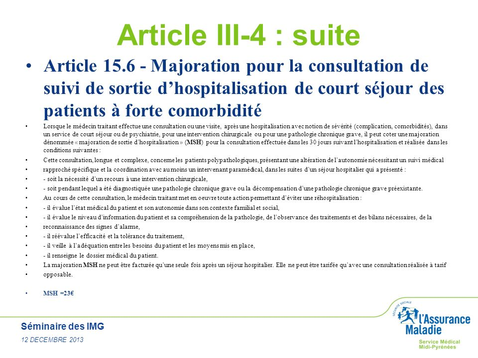 Article III-4 : suite