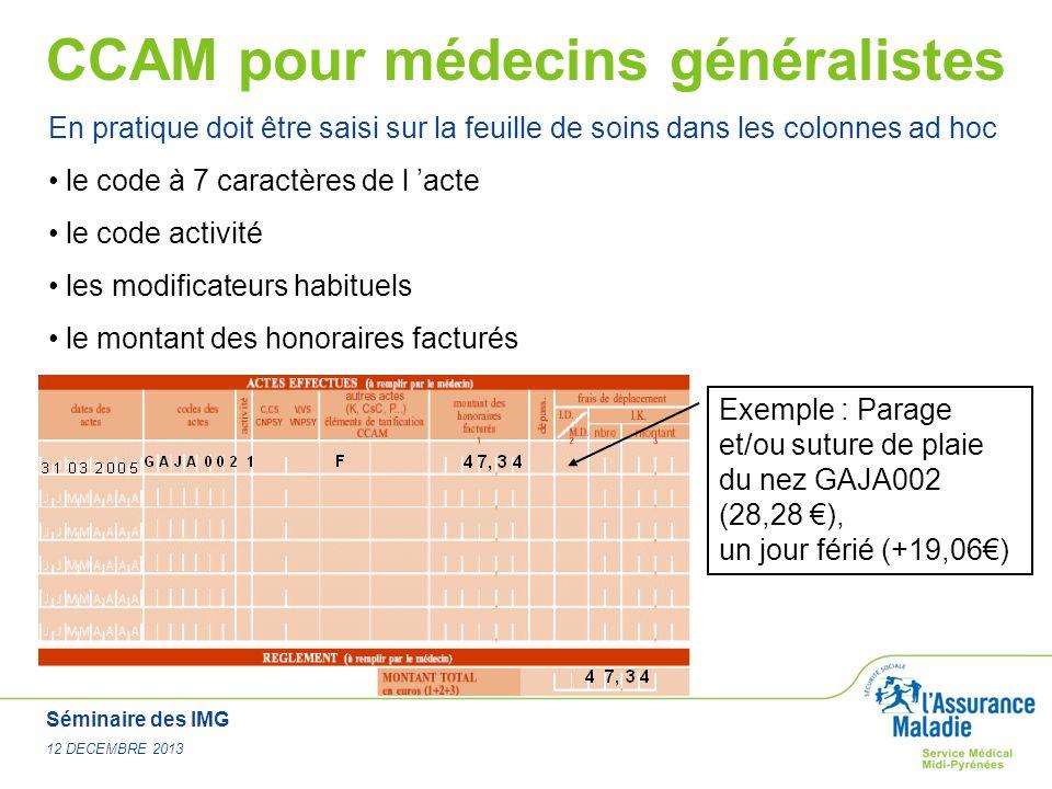 CCAM pour médecins généralistes