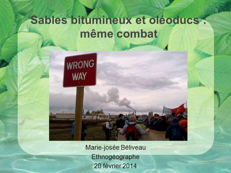 Sables bitumineux et oléoducs : même combat