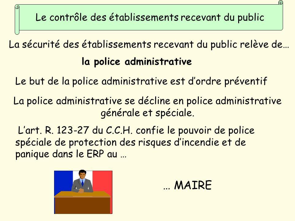 Le contrôle des établissements recevant du public