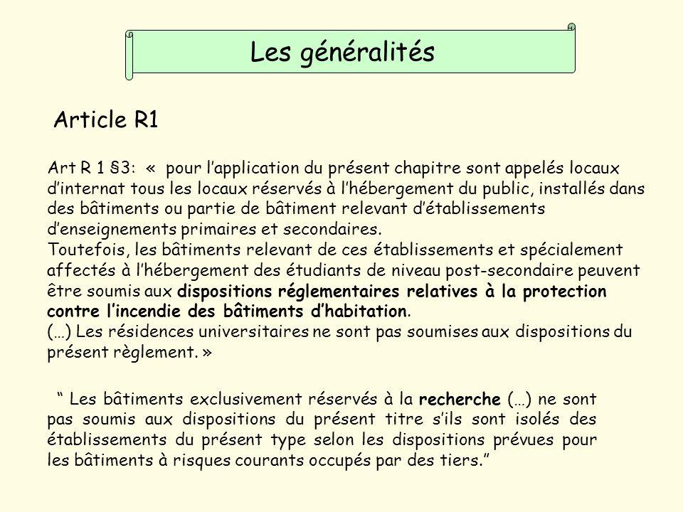 Les généralités Article R1