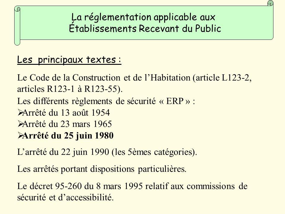 La réglementation applicable aux Établissements Recevant du Public
