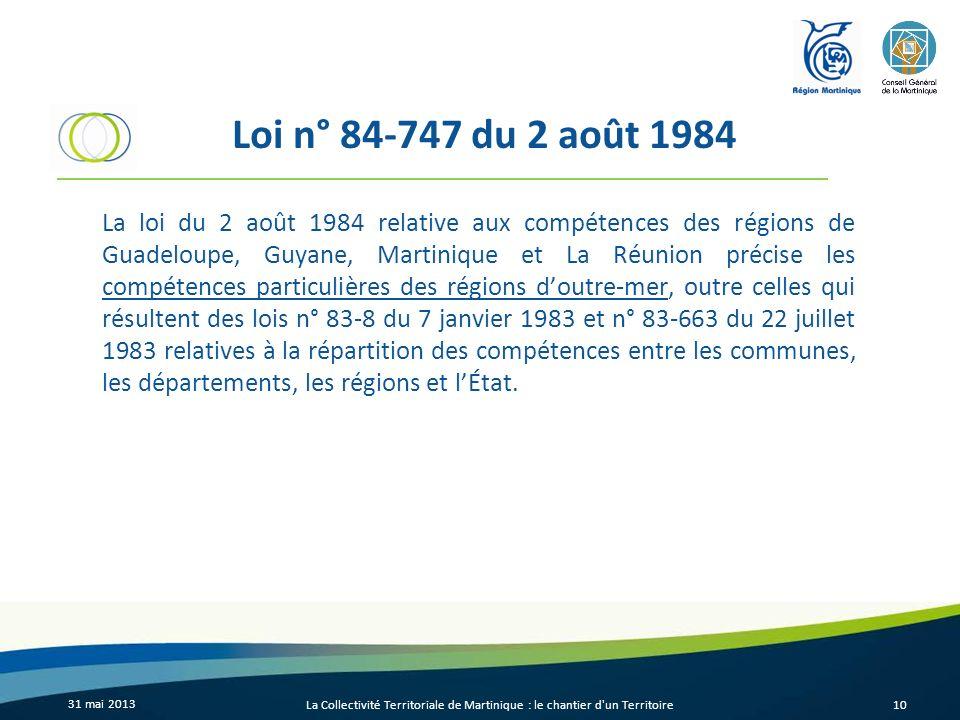 Loi n° 84-747 du 2 août 1984